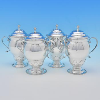 B8469p:  Sterling Silver Cups - D & J Welby Hallmarked In 1923 London - George V - Image 1