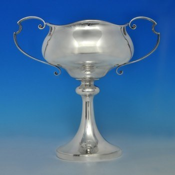 j6274: Sterling Silver Trophy Or Cup - Walker & Hall Hallmarked In 1921 Sheffield - George V  - image 1