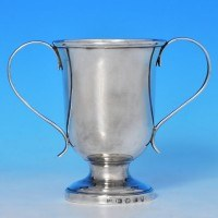 j8938: Antique Sterling Silver Cup - Hallmarked In 1803 Sheffield - George III Georgian - image 1