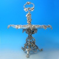j2679: Antique Silver Plate Desert Stand - Circa 1870 London - Victorian - image 1