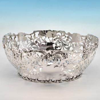 B4470: Antique Sterling Silver Dish - Nathan & Hayes Hallmarked In 1900 Chester - Victorian - Image 1