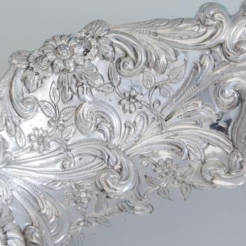 B6787: Antique Sterling Silver Dish - Gibson & Langland Hallmarked In 1894 London - Victorian - Image 2