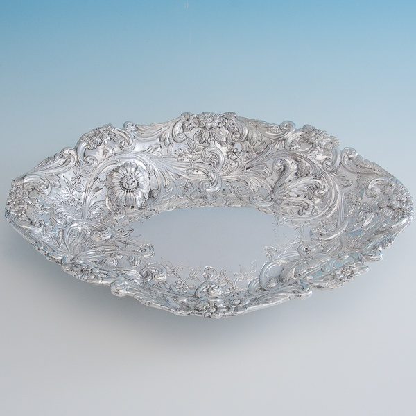 B6787: Antique Sterling Silver Dish - Gibson & Langland Hallmarked In 1894 London - Victorian - Image 1