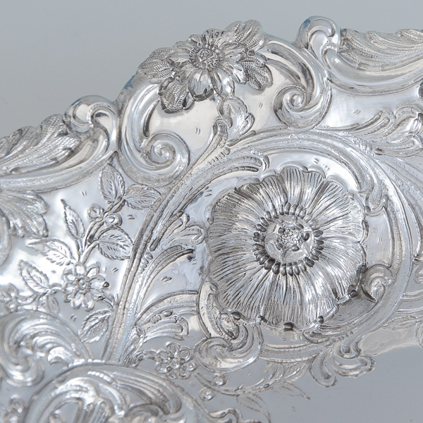B6787: Antique Sterling Silver Dish - Gibson & Langland Hallmarked In 1894 London - Victorian - Image 3