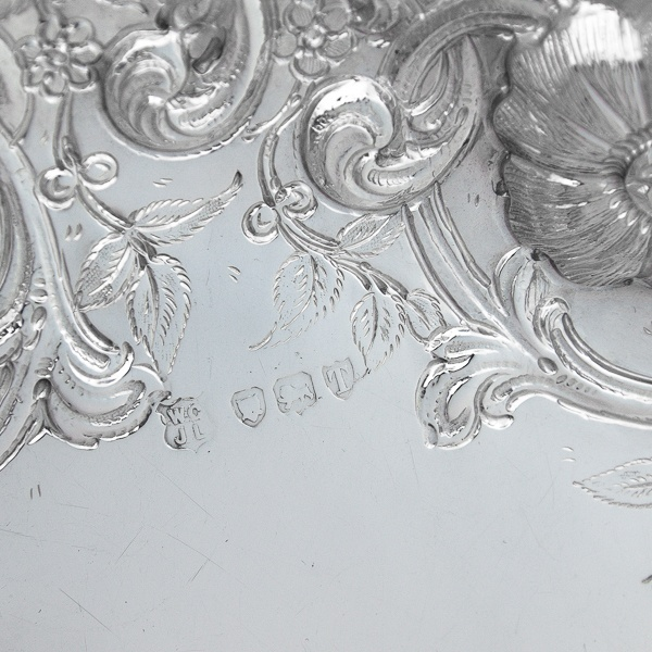 B6787: Antique Sterling Silver Dish - Gibson & Langland Hallmarked In 1894 London - Victorian - Image 4