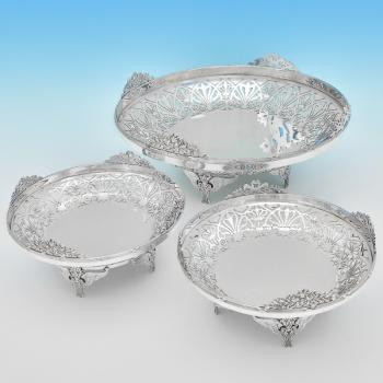 B7179: Antique Sterling Silver Dishes - Mappin & Webb Hallmarked In 1910 London - Edwardian - Image 1