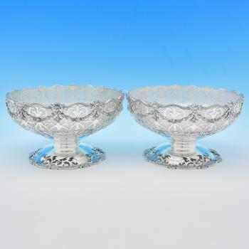 B7935:  Sterling Silver Dishes - Mappin & Webb Hallmarked In 1917 London - George V - Image 1