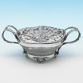 B9249: Antique Sterling Silver Dishes - William Comyns Hallmarked In 1908 London - Edwardian - Image 1