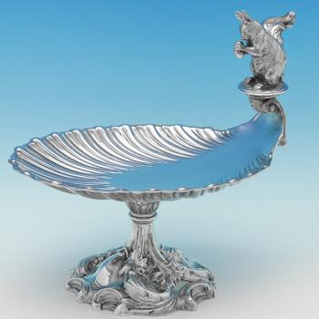 B9377: Antique Silver Plate Dish - Elkington & Co. Made Circa 1870 Unknown - Victorian - Image 1