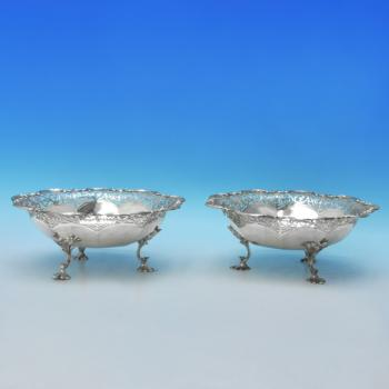 D9013:  Sterling Silver Dishes - James Dixon & Sons Hallmarked In 1922 Sheffield - George V - Image 3