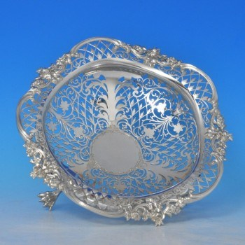 j8384: Antique Sterling Silver Dish - James Dixon & Sons Hallmarked In 1908 Sheffield - Edwardian - image 2