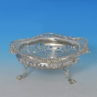 j8384: Antique Sterling Silver Dish - James Dixon & Sons Hallmarked In 1908 Sheffield - Edwardian - image 1