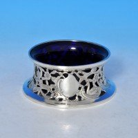 j8600: Antique Sterling Silver Dish Ring - John & Frank Pairpoint Hallmarked In 1901 London - Edwardian - image 1