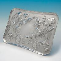 B4847: Antique Sterling Silver Dressing Table Trays - William Comyns Hallmarked In 1904 London - Edwardian - Image 1
