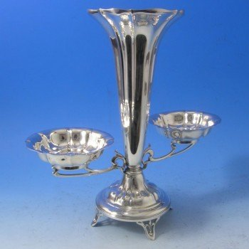 d3981: Antique Sterling Silver Epergne - Henry Atkins Hallmarked In 1906 Sheffield - Edwardian - image 1