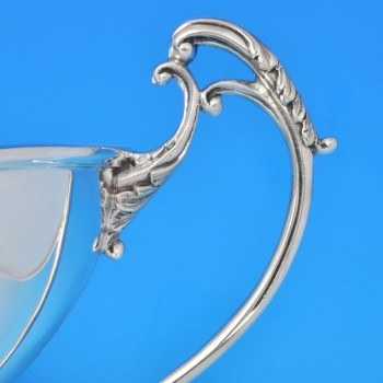 j8108: Sterling Silver Epergne - P. Ashbury & Sons. Hallmarked In 1927 Sheffield - George V  - image 3