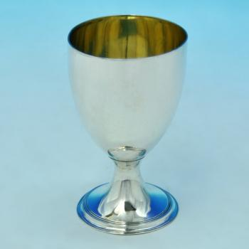 B1492: Antique Sterling Silver Goblet - Elizabeth Morley Hallmarked In 1809 London - Georgian - Image 1
