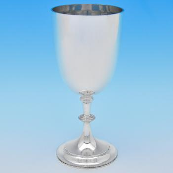 B8190: Antique Sterling Silver Goblets - William Hutton Hallmarked In 1906 London - Edwardian - Image 1