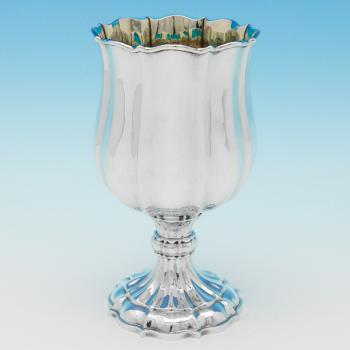 B9181: Antique Sterling Silver Goblet - Joseph Angell Hallmarked In 1825 London - Georgian - Image 1