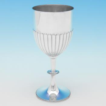 B9658: Antique Sterling Silver Goblet - Gibson & Langland Hallmarked In 1889 London - Victorian - Image 1