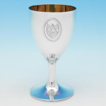 B9817: Antique Sterling Silver Goblet - John Robbins Hallmarked In 1788 London - Georgian - Image 1