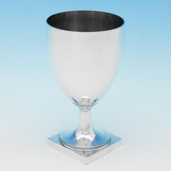 L0152: Antique Sterling Silver Goblet - John Robbins Hallmarked In 1799 London - Georgian - Image 1