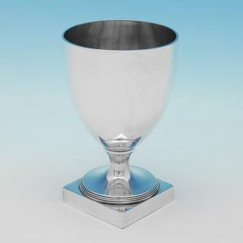 L0619: Antique Sterling Silver Goblet - James Young Hallmarked In 1791 London - Georgian - Image 1