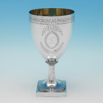 L0751: Antique Sterling Silver Goblet - Joshua Jackson Hallmarked In 1786 London - Georgian - Image 1