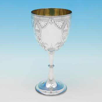 L0805:  Sterling Silver Goblet - Randle Bros. Hallmarked In 1974 London - Elizabeth II - Image 1