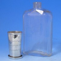 d9994: Antique Sterling Silver Hip Flask - Hallmarked In 1899 London - Victorian - image 1