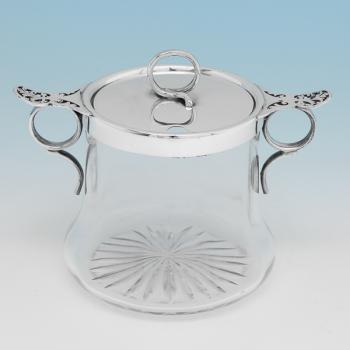 B9898: Antique Sterling Silver Jam Pot - Elkington & Co. Hallmarked In 1907 Birmingham - Edwardian - Image 1