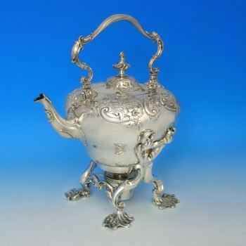 d6453: Antique Sterling Silver Kettle - Paul Storr Hallmarked In 1832 London - William IV  - image 1