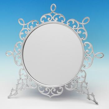 B8930: Antique Sterling Silver Mirrors - John Tiley Hallmarked In 1899 London - Victorian - Image 1