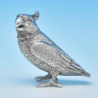B8812:  Sterling Silver Cockatoo - Barnard Brothers Hallmarked In 1975 London - Elizabeth II - Image 1