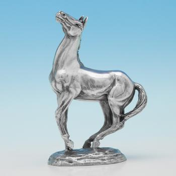 L0006:  Sterling Silver Animal - John Pinches Hallmarked In 1975 London - Elizabeth II - Image 1