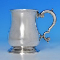 b0271: Antique Sterling Silver Mug - Paul De Lamerie Hallmarked In 1739 London - George II Georgian - image 1