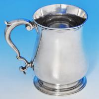 B1150: Antique Sterling Silver Mug - William Shaw II & William Preist Hallmarked In 1760 London - Georgian - Image 1