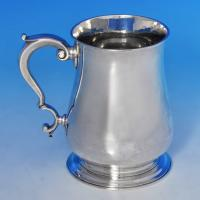 B1361: Antique Sterling Silver Mug - Richard Gurney & Co Hallmarked In 1749 London - Georgian - Image 1
