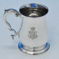 B2020: Antique Sterling Silver Mug - Benjamin Brewood II Hallmarked In 1765 London - Georgian - Image 1