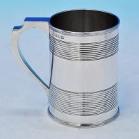 B2104:  Sterling Silver Mug - Max Emanuel Hallmarked In 1935 London - George V - Image 1