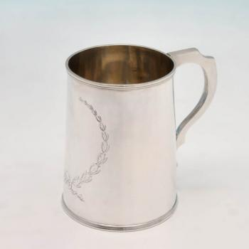 B4405: Antique Sterling Silver Mug - Lias Brothers Hallmarked In 1874 London - Victorian - Image 1