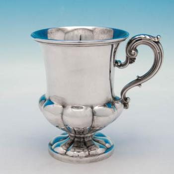 B5693: Antique Sterling Silver Mugs - Paul Storr Hallmarked In 1828 London - Georgian - Image 1