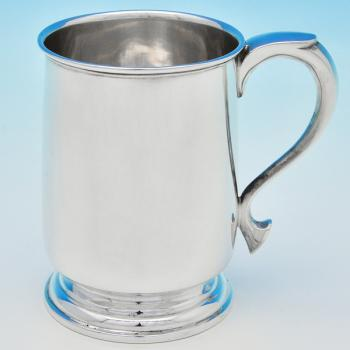 B6812:  Sterling Silver Half Pint Mug - James Dixon & Sons Hallmarked In 1944 Sheffield - George VI - Image 1