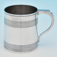 B7062: Antique Sterling Silver Mugs - James Darquits Hallmarked In 1798 London - Georgian - Image 1