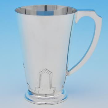 B7896:  Sterling Silver Mugs - Walker & Hall Hallmarked In 1941 Sheffield - George VI - Image 1