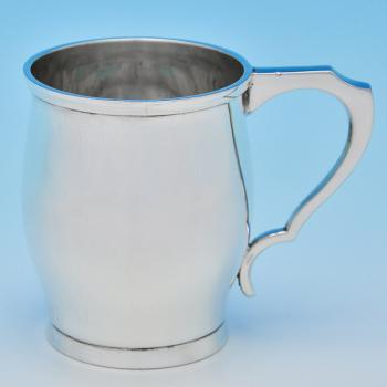B8546:  Sterling Silver Christening Mugs - William Hutton Hallmarked In 1934 Sheffield - George V - Image 1