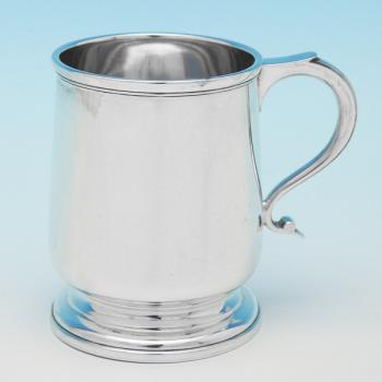 B9226:  Sterling Silver Christening Mugs - Henry Atkins Hallmarked In 1926 Sheffield - George V - Image 1