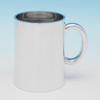 B9728: Antique Sterling Silver Mug - D & C Houle Hallmarked In 1870 London - Victorian - Image 1