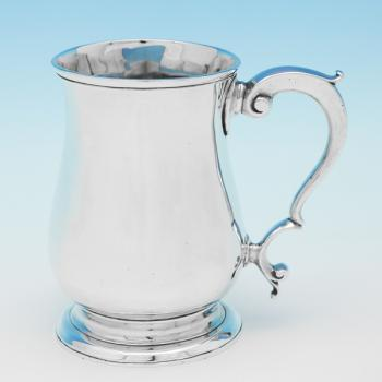 B9776: Antique Sterling Silver Mug - William & James Priest Hallmarked In 1770 London - Georgian - Image 1