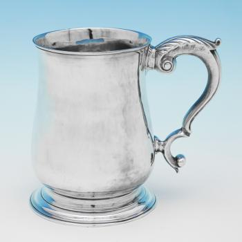 B9859: Antique Sterling Silver Mug - Fuller White Hallmarked In 1748 London - Georgian - Image 1
